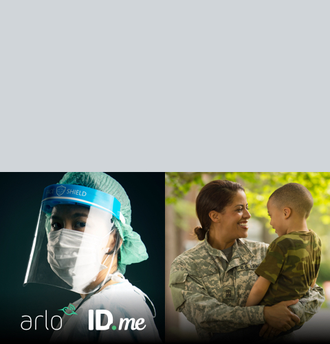 As a thank you to first responders, nurses and military, we're offering <strong>25% off</strong> all products at Arlo.com (excludes accessories and bundles).