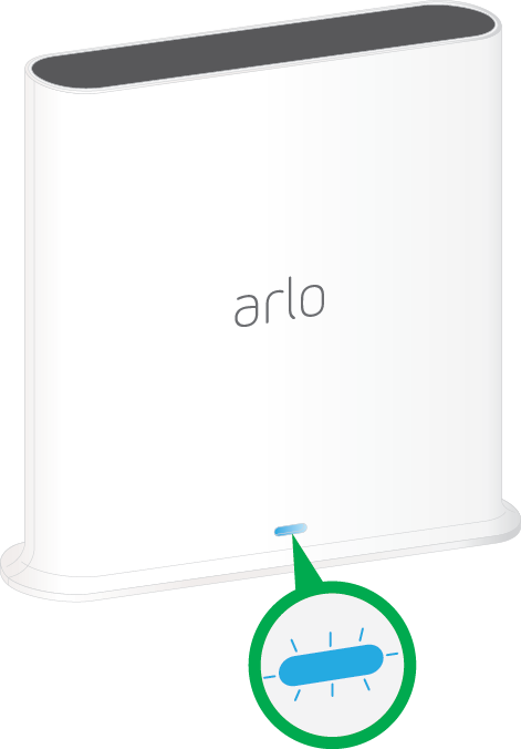 What do the LEDs on my Arlo SmartHub or base station mean?